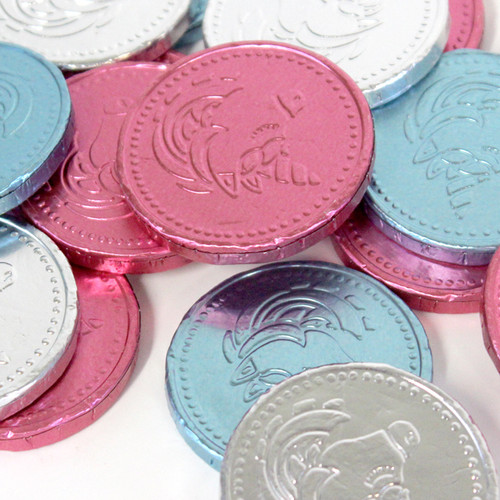 Unicorn themed milk chocolate coins