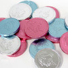 Pink, Silver and Blue Chocolate Coins