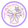 Fairy wings candy cone sticker