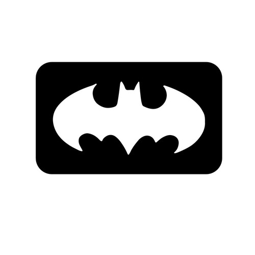 Winged Bat Hero Stencil