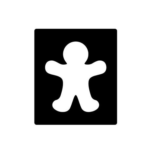 Gingerbread Man Stencil