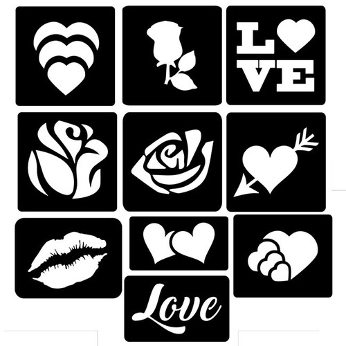 Valentines Collection of Tattoo Stencils