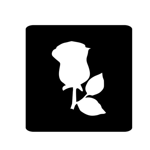Rose Bud Stencil