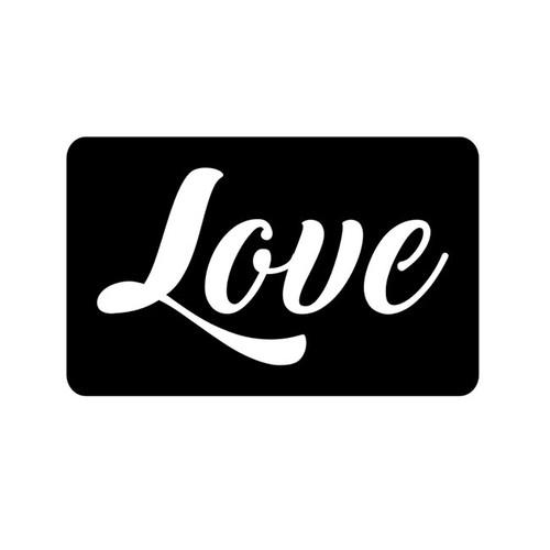 Love Glitter Tattoo  Stencil