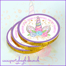 Unicorn Crown Chocolate Coins