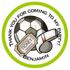 Football Party Bag Stickers