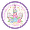 Personalised Unicorn with Flowers Sticker
