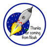 Personalised Space Rocket Sticker