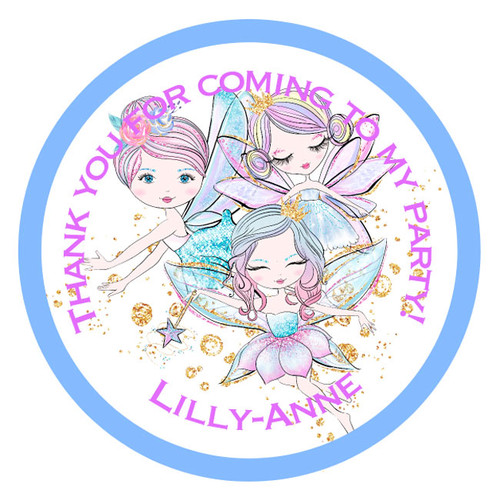 Fairy Friends Party Stickers