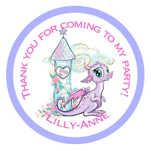 Magical Dragon Party Stickers