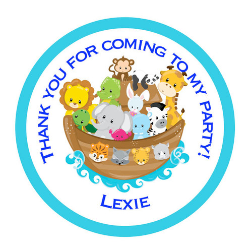 Noah's Ark Party Stickers