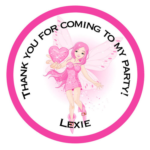 Pink Fairy Party Stickers