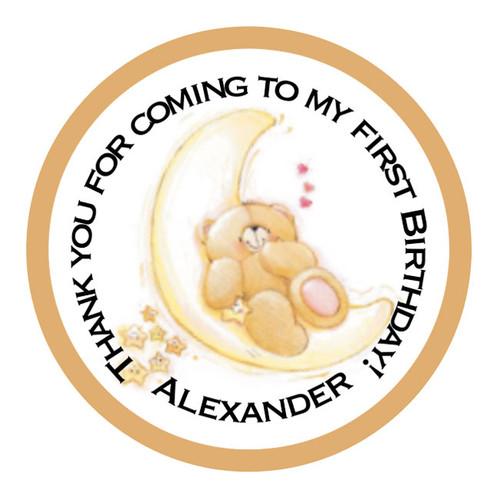 Teddy Bear First Birthday Stickers