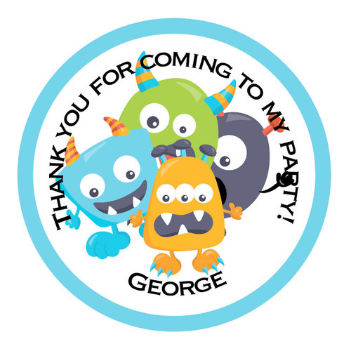 Monster Party Bag Stickers