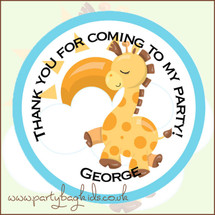 Baby Giraffe Party Bag Stickers