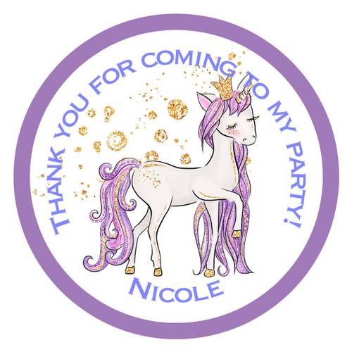 Personalised Cute Unicorn Stickers