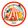 Personalised Circus Stickers