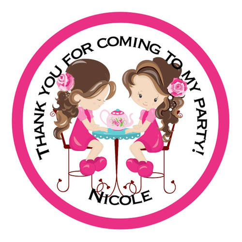 Personalised Tea Party Stickers