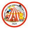 Circus Candy Cone Sticker