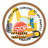 Construction Candy Cone Sticker