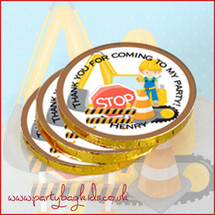 Construction Chocolate Coins