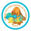 Dinosaur Candy Cone Sticker