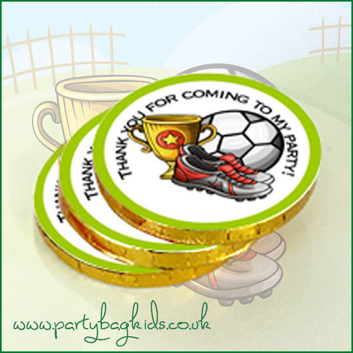 Football with Trophy  Chocolate Coins