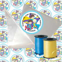 Super Hero Candy Cone Sticker