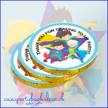Super Hero Chocolate Coins