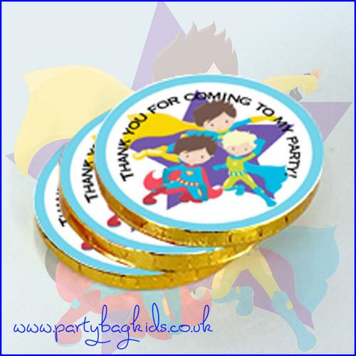 Super Hero Chocolate Coins