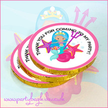 Mermaid with Trident Chocolate Coins