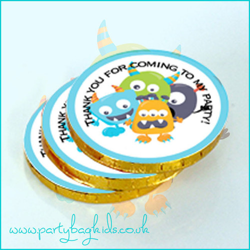 Monster Themed Chocolate Coins