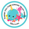 Narwal Party Bag Sticker