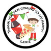 Pizza Party Bag Sticker