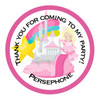 Princess Charming Party Bag Sticker