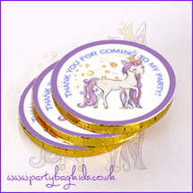 Pretty Unicorn Princess Chocolate Coins