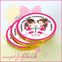 English Rose Tea Party Chocolate Coins