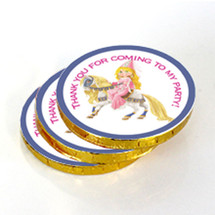 Princess and Pony Chocolate Coins