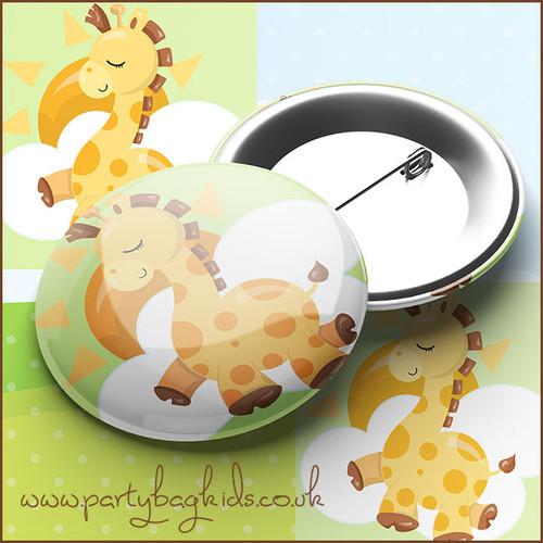 Baby Giraffe Pin Badge