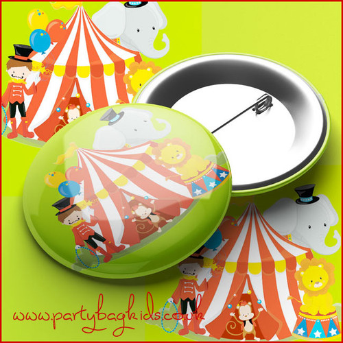 Circus Party Pin Badge