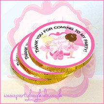 Ballet Chocolate Coin Stack