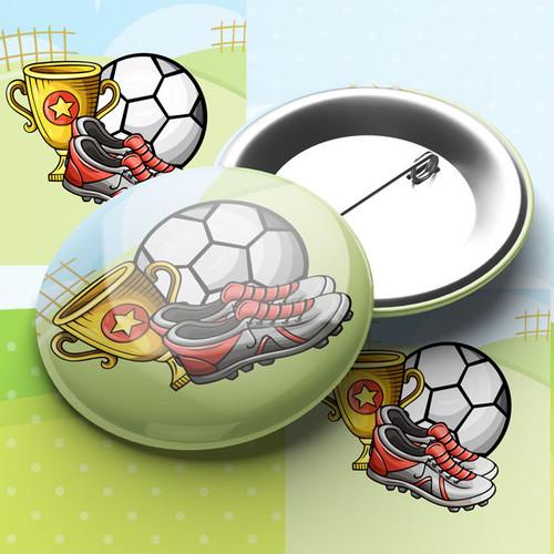 Football Trophy Pin Badge