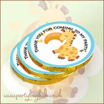 Baby Giraffe Themed Chocolate Coins