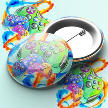 Gamer Pin Badge