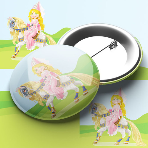Princess and Pony Pin Badge