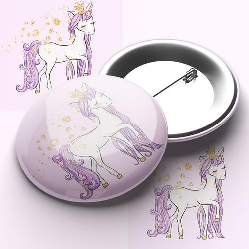 Cute Unicorn Pin Badge