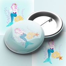 Pretty Mermaid Pin Badge