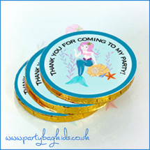 Pretty Mermaid Themed Chocolate Coins
