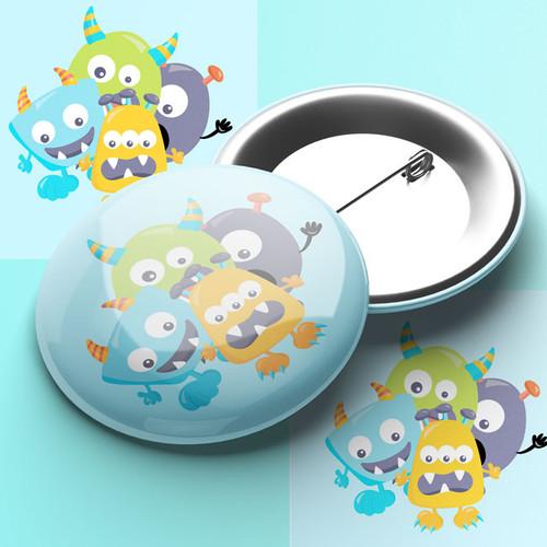 Monster Pin Badge
