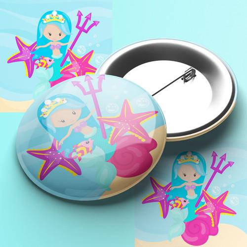 Mermaids Trident Pin Badge
